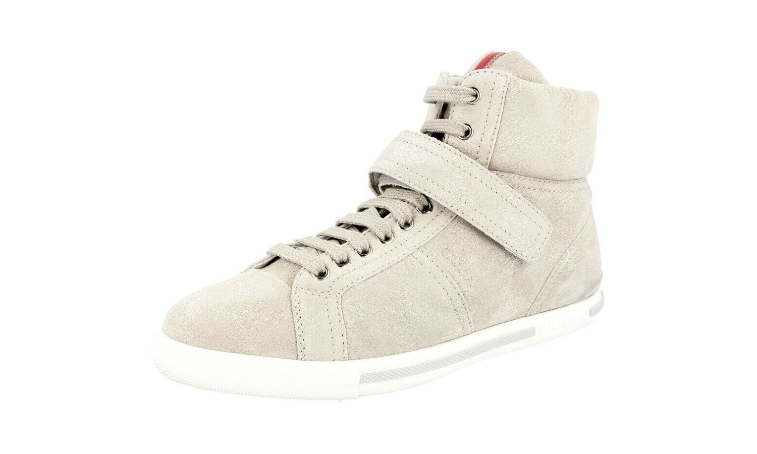 AUTHENTIC PRADA HIGH HIGH HIGH TOP SNEAKERS SHOES 3T5783 SUEDE NEW US 7.5 EU 37,5 38 5da1bc