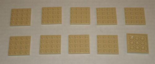 LEGO NEW 4x4 Tan Plate 4243824 Brick 3031 10x