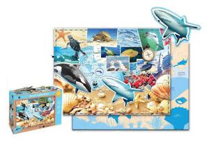 Wwf Puzzle Pour Enfants Vie Marine (48 Pièces) Animaux Requin Dauphin Remises Vente