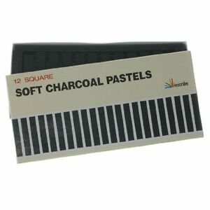 Inscribe Charcoal Soft Pastels 12 Colours