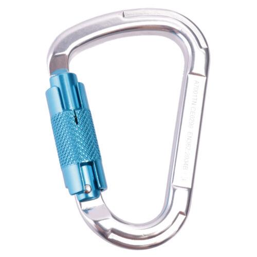 Aluminum Outdoor Climbing Carabiner 25KN D-Ring Keychain Clip Hook Locking
