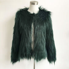 2017 Luxury Women's Faux Fur Coat Jacket Winter Outwear Warm Outdoor Overcoats