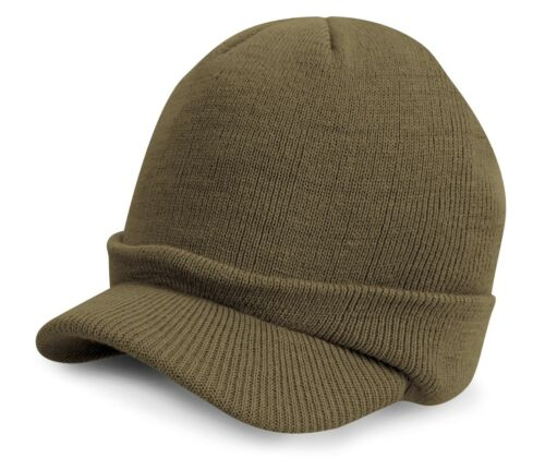 3 Colours CAMO Result Kids Junior Esco Knitted Army Hat Peaked beanie RC60J