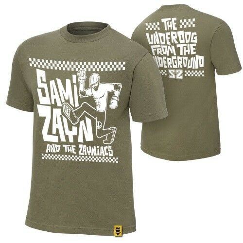 "El Generico ROH Official WWE Sami Zayn /""Underdog From the Underground/"" T-Shirt"