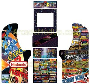 Arcade1up Arcade Cabinet Graphics Wrap Full Wrap High