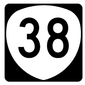 Oregon Route 38 Sticker Decal R1039 Highway Sign Road Sign