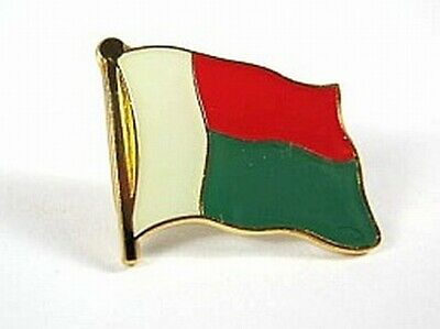 Madagascar Flags Pin New Pressure Cap Quell Summer Thirst 0 5/8in Madagascar
