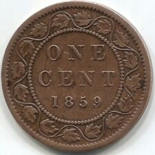 1859 CANADA ONE CENT Coin