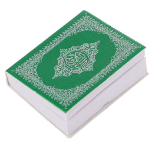 1:6th Paper Holy Bible Book Dollhouse Miniature Books Decor Green Cover