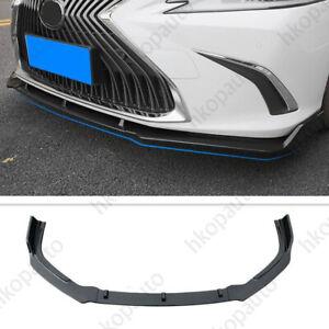 For 2019 Lexus ES 350 300h Carbon Fiber Front Bumper Front Lip Cover Trim 3PCS