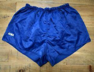 Bacchus-Vintage-Nylon-Shiny-Fussball-Running-Retro-80s-90s-SHORTS-Sprinter-LARGE