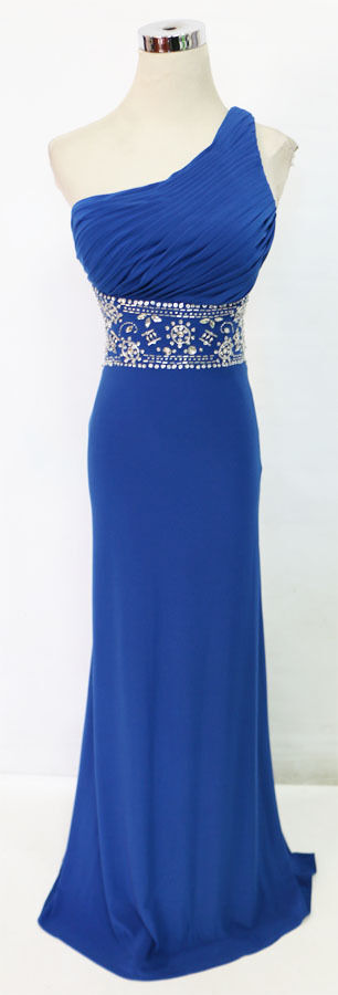 BLONDIE NITES bluee Prom Formal Evening Gown 13 - 190 NWT