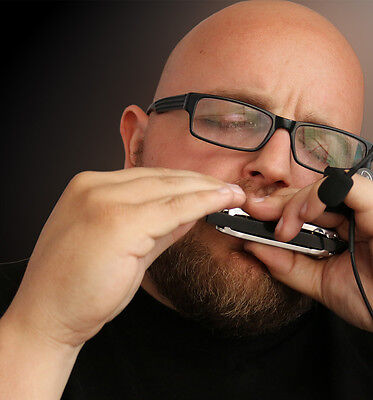 NEW!!! JAW HARP MIC (HANDS FREE) harmonica, harmonica dvd, Myers Pickups