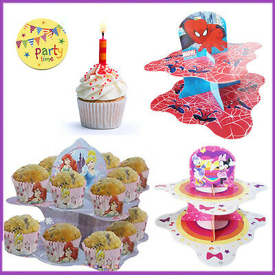 Kid/'s Party Decor Cup Cake Snack Stand Birthday Muffin Holder Disney Cartoon NEW