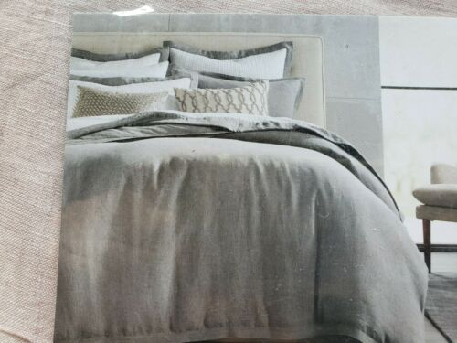 Hotel Collection Full/Queen Linen Comforter Cover Dusty Pink