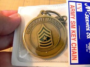 Details about US Army Sergeant Major Key chain challenge coin FOB new in  pkg  collectible