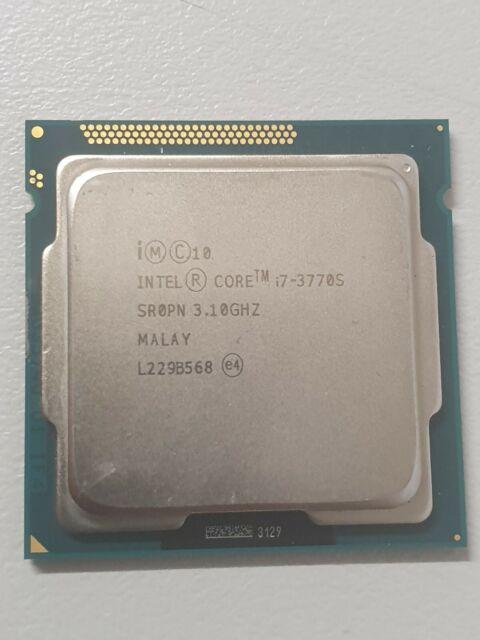 Intel Core i7 3770S / 3.1 GHz processor Cpu For PC Desktop