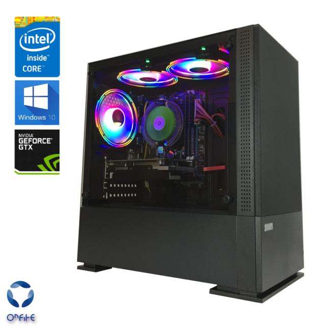 Gaming Desktop PC Intel Core i7 3.5GHz/Nvidia GTX 1050 TI/SSD/8GB RAM/WiFi/RGB