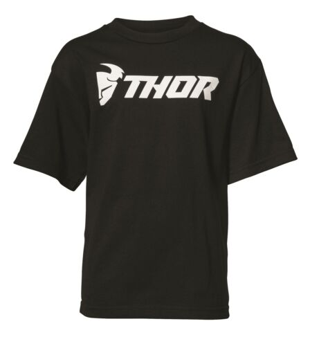 THOR Youth LOUD TEE T-shirt nera per Motocross Enduro tifosi