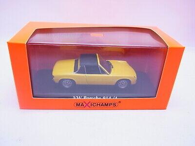 VW Porsche 914//4 1972 gelb Modellauto 1:43 Maxichamps