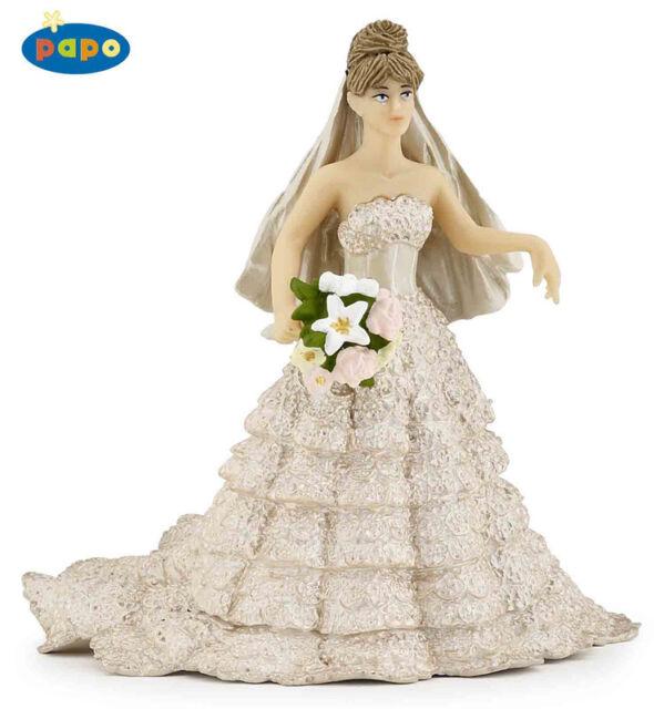 BNWT PAPO Champagne Lace Bride figurine