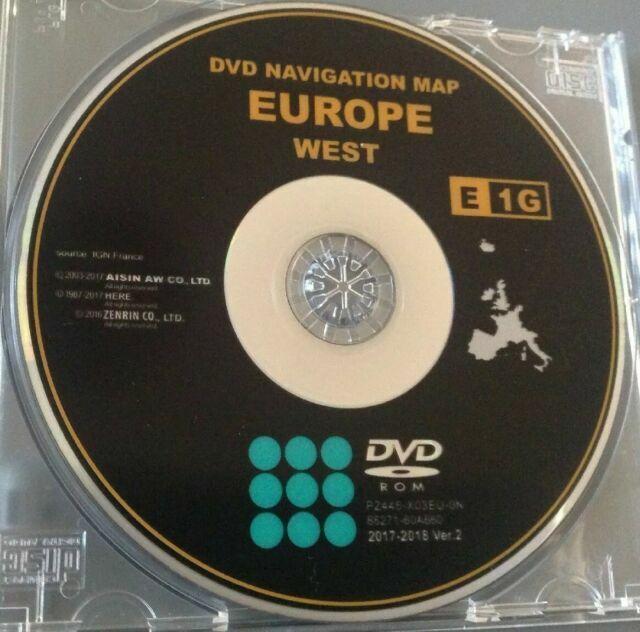 dvd navigation map europe toyota avensis Toyota TNS300 SAT NAV Navigation DVD Europe UK Map CD TNS 300