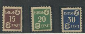L-039-ESTONIE-occupation-allemande-Michel-1-3-1941-croix-gammee-Estonie-Armoiries-neuf-sans
