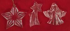 "Lead Crystal 3"" Princess House Stars Angel Ornament Figurine - Lot of 3 Pieces"