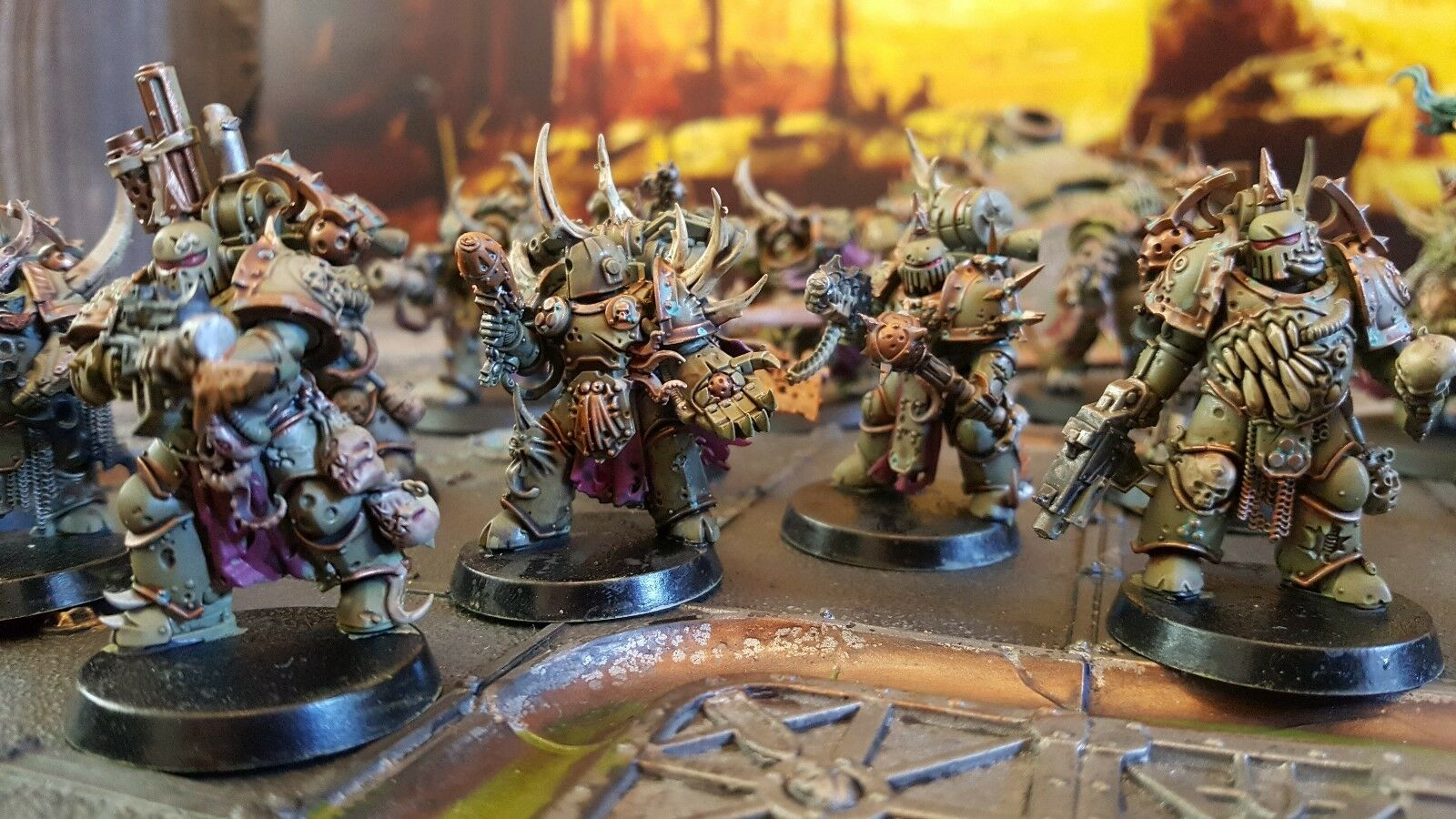 Warhammer 40k Pro painted death guard chaos space marines made to order