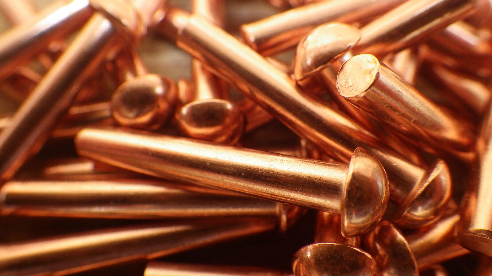 Solide Kupfer 1 1 1 10.2cm X 2.5cm Runder Kopf Nieten Restaurierung Dampf Vintage  | Online Kaufen  a67cc8