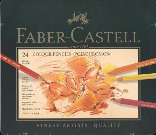 FaberCastell Polychromos Pencil Set, 24 Tin