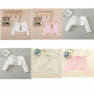 ff1aad334 Flower Girl Kid Long Bolero Shrug Short Cardigan Bridesmaid Wedding ...