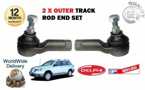 FOR MITSUBISHI OUTLANDER  2.4i MiVEC  2003-12//2006 2 X OUTER TRACK TIE ROD END
