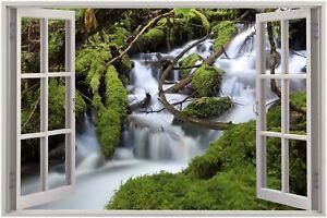 Huge-3D-Window-view-waterfall-Wall-Sticker-Film-Mural-Art-Decal-17