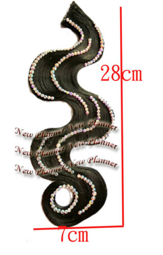 Hf06 Women Competition Salas Rumba Latin Dance wig Hair Accessory Crystal black