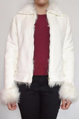 pilota Bella in bianca da giacca pelliccia foderata donna sintetica da ZzzwrqxI