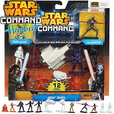 STAR WARS HASBRO A8945 COMMAND JEDI DUAL SET 12 FIGURINES NEUF