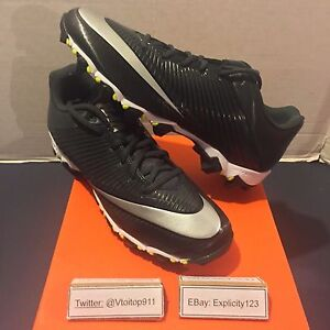 86ca676322d Men s Nike Vapor Shark 2 Football Cleats New  833391-002  Black 100 ...