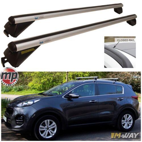 Lockable Aluminium Cross Roof Bars for Jaguar XF Sportbrake FLUSH SOLID RAILS