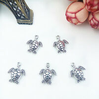 Craft DIY turtles,10pcs Charm alloy,necklace earring Pendants bead,Jewelry make#