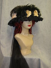 Elsie Massey 2822 Edwardian Victorian Style women's hat with free hatpin