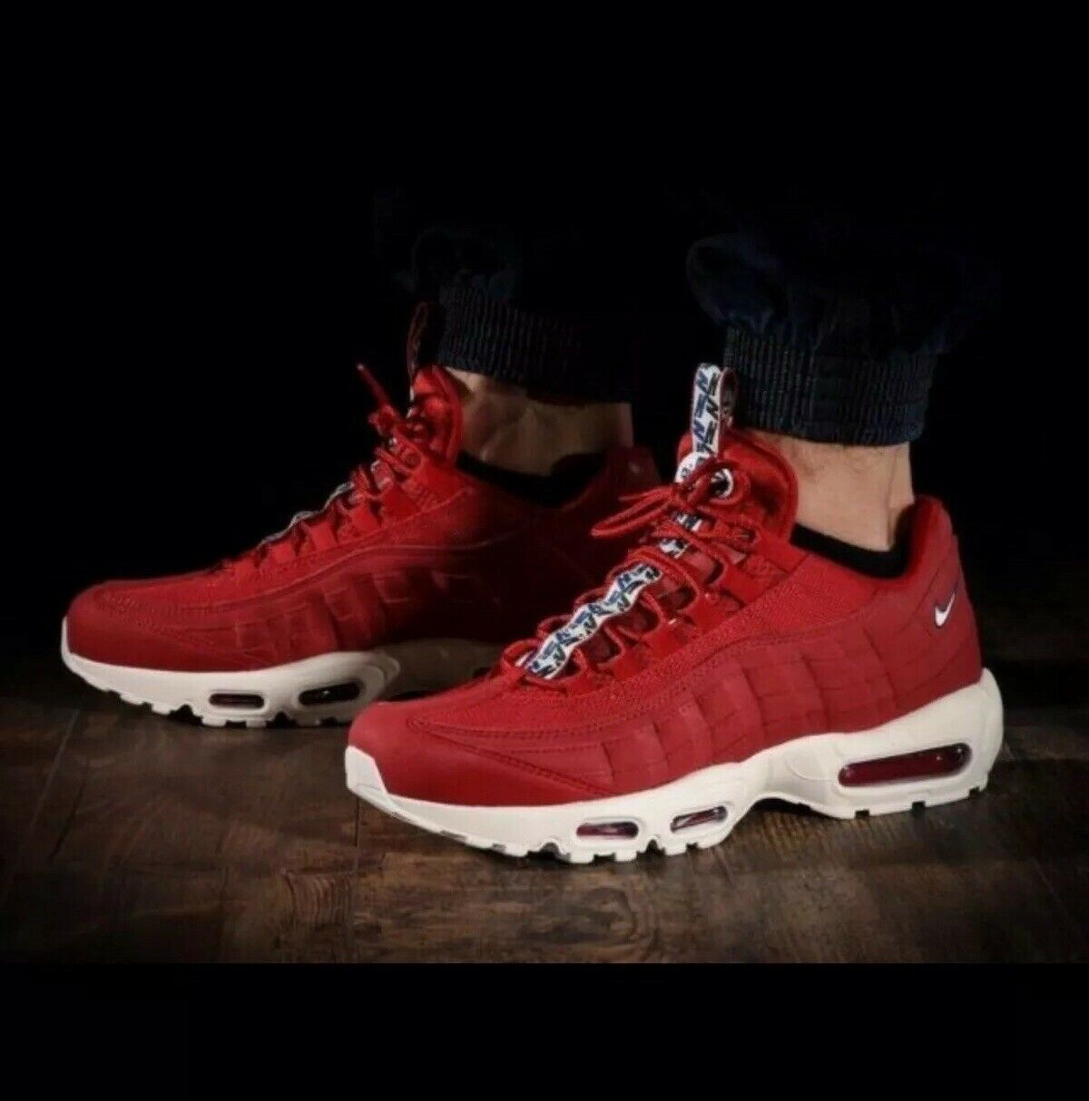 Nike Air Max 95 TT Pull Tab Pack Gym Red Sail bluee 3M Men's Size 8