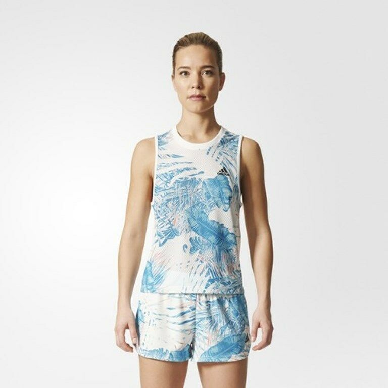 ADIDAS CF9274 Botanical Pattern Run SPORT Tank Top ( S ) Free Shipping