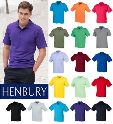 Ladies Classic Cotton Pique Polo Shirt Henbury 100/% Cotton SIZES 10-18