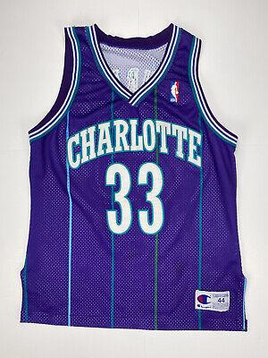 Leyenda Jersey De Baloncesto Retroceso 90s Hip Hop Ropa Camiseta Top para Fiesta Charlotte Hornets 33# Alonzo Mourning Bordado Respirable Swingman Jersey Chaleco