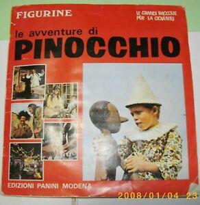 ALBUM FIGURINE PINOCCHIO PANINI 1972 COMPLETO COLORI RARO E BELLO COMPRA  SUBITO
