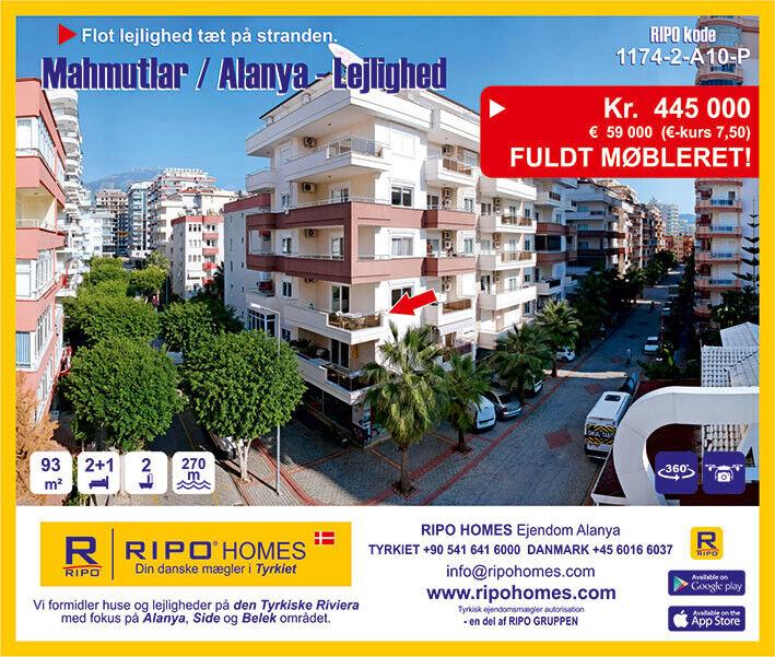 SOLGT   Alanya Mahmutlar - Flot lejlighed tæt p...