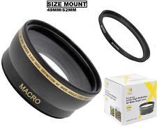 52mm HD Wide Angle Lens for Panasonic AG-AC90A AG-AC8PJ HC-X1000 HC-MDH2