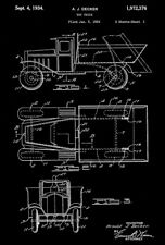 All Metal Products Toy Hen Patent Art Poster 1941 Wyandotte Toys Gora
