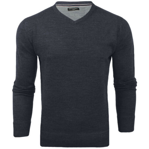 Brave Soul Homme Quazar Big Tall King Taille Col V Pull à manches longues Pull Top
